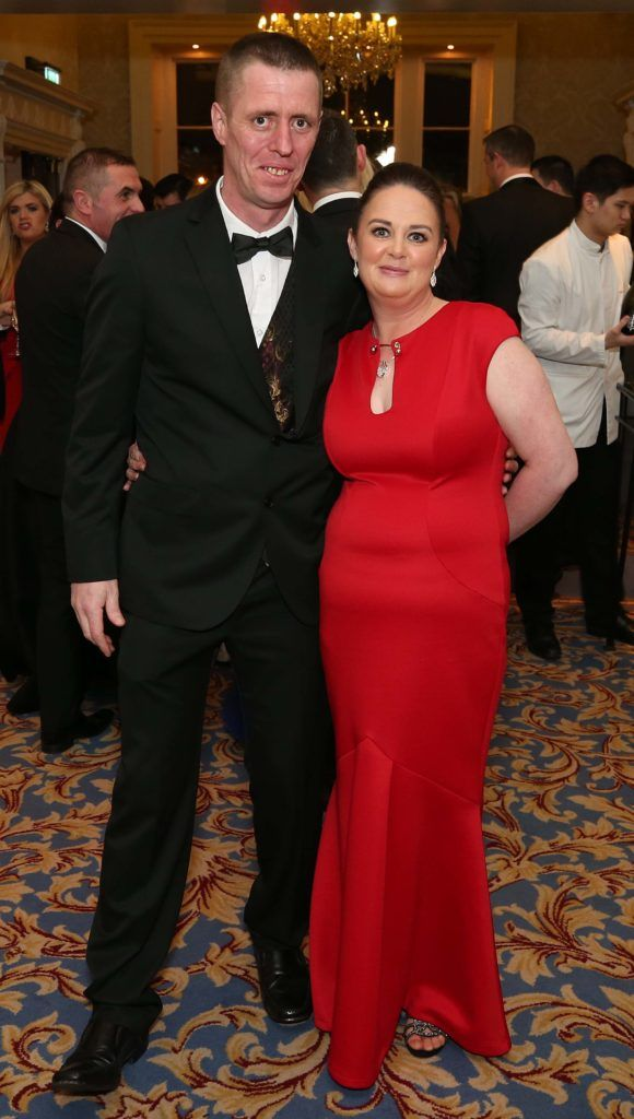 Vinny and Tara Currivan, pictured at the Nesta sponsored ISPCC Valentines Ball held in the Shelbourne Hotel. Pic. Robbie Reynolds