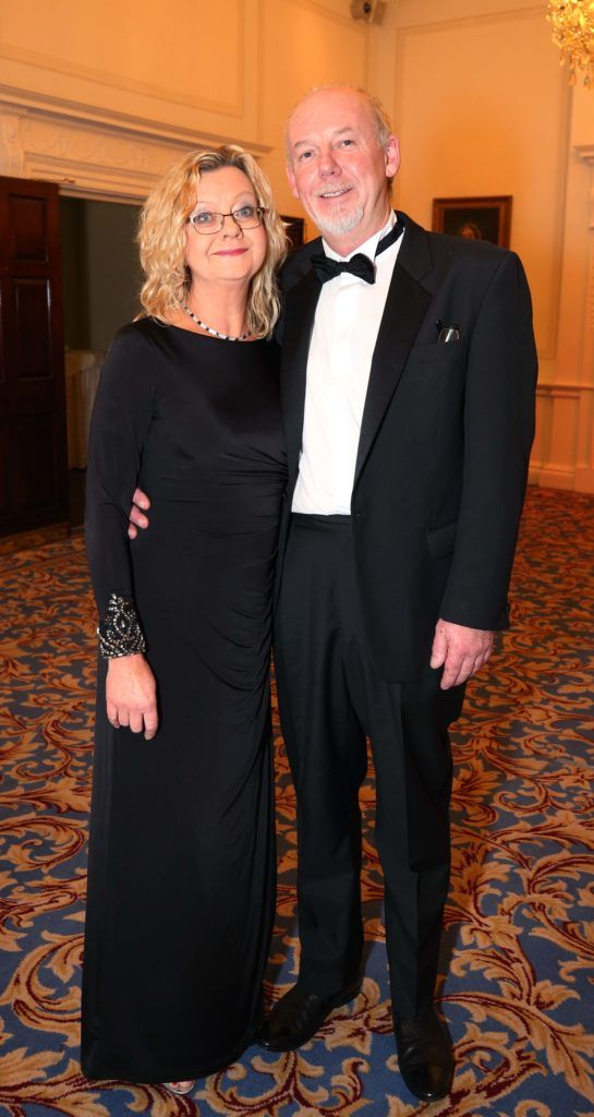 Majella Black and Paul Moore, pictured at the Nesta sponsored ISPCC Valentines Ball held in the Shelbourne Hotel. Pic. Robbie Reynolds
