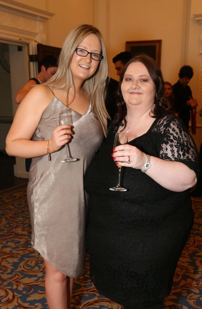 Laura and Pamela Larkin, pictured at the Nesta sponsored ISPCC Valentines Ball held in the Shelbourne Hotel. Pic. Robbie Reynolds