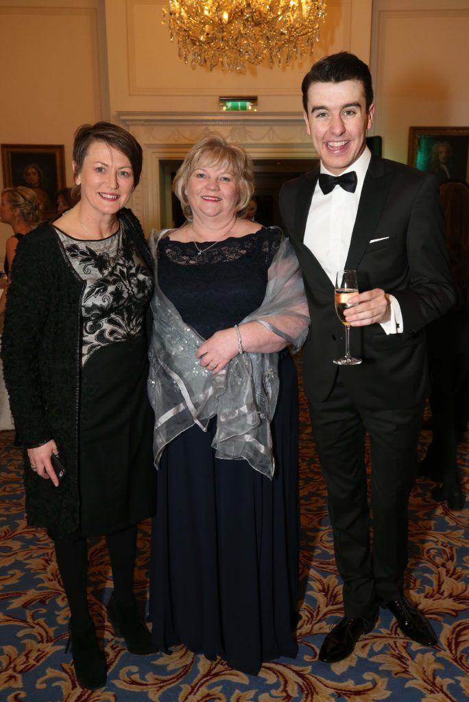 Gill Waters (left) with Gabrielle Geraghty and Al Porter, pictured at the Nesta sponsored ISPCC Valentines Ball held in the Shelbourne Hotel. Pic. Robbie Reynolds