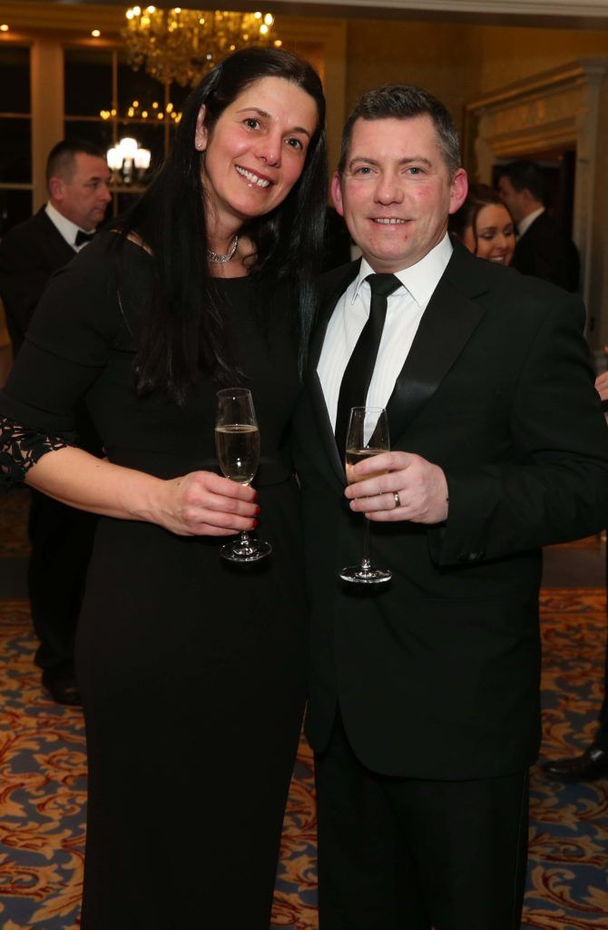 Roxana and Brian Hefferon, pictured at the Nesta sponsored ISPCC Valentines Ball held in the Shelbourne Hotel. Pic. Robbie Reynolds