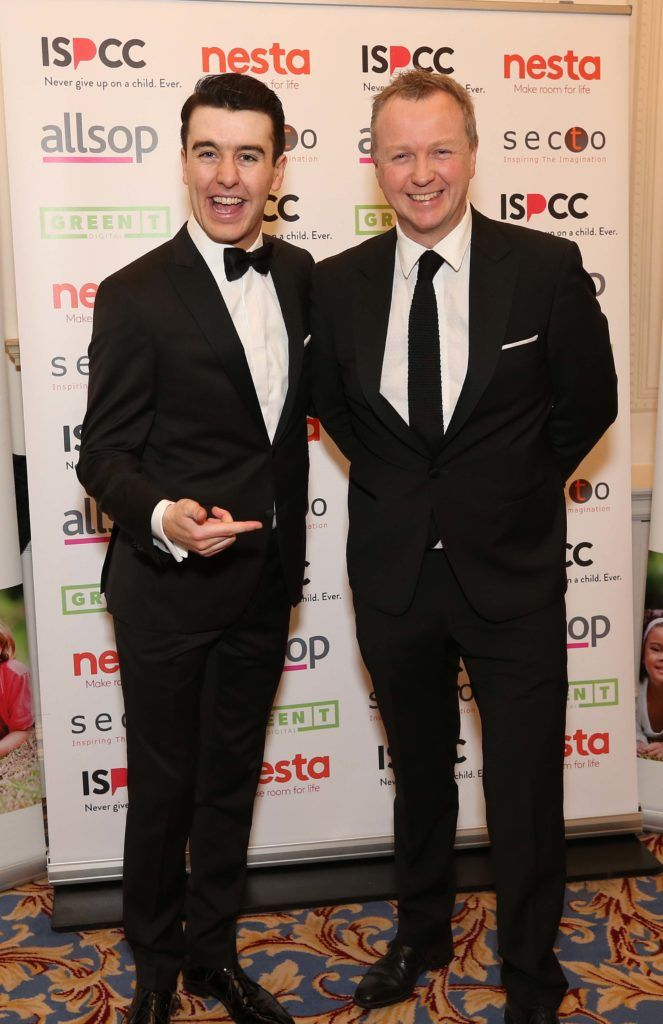 Al Porter and Matt Cooper, pictured at the Nesta sponsored ISPCC Valentines Ball held in the Shelbourne Hotel. Pic. Robbie Reynolds