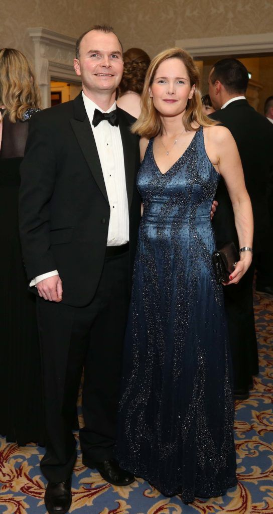 Jonathan and Audrey McIlwaine, pictured at the Nesta sponsored ISPCC Valentines Ball held in the Shelbourne Hotel. Pic. Robbie Reynolds
