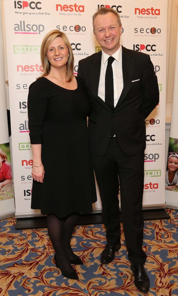 Grainia Long and Matt Cooper, pictured at the Nesta sponsored ISPCC Valentines Ball held in the Shelbourne Hotel. Pic. Robbie Reynolds