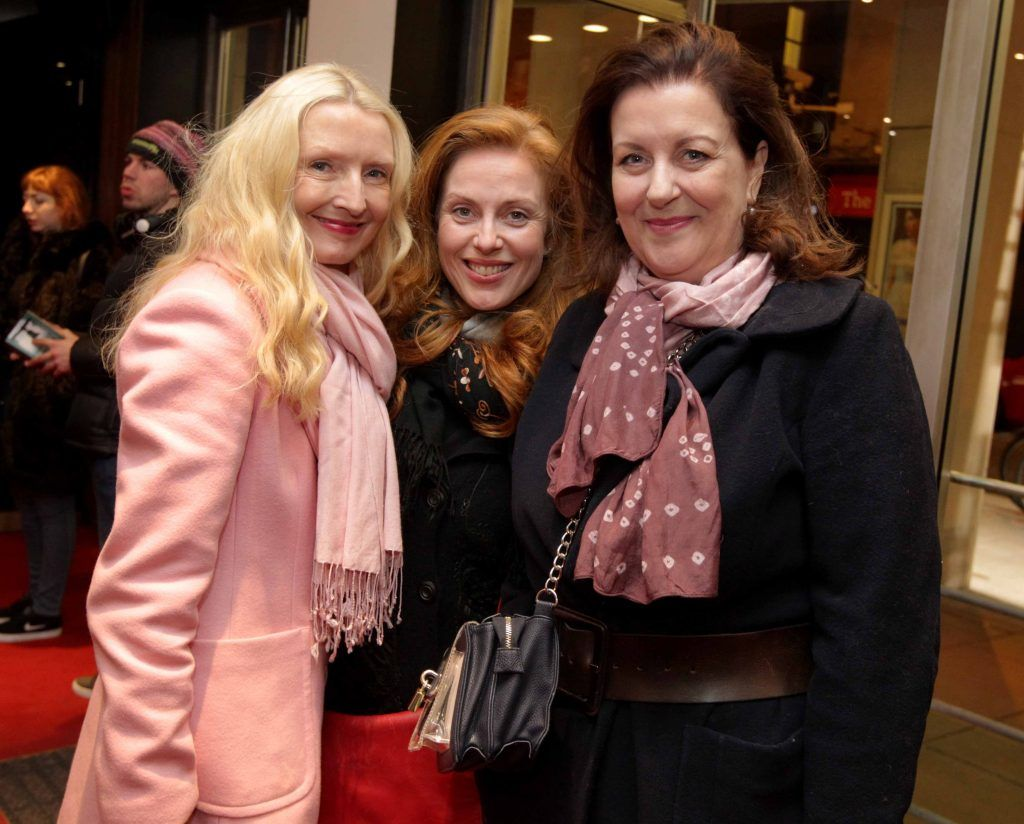 Pictured, from left, Claudia Carroll, Clelia Murphy and Marian O'Dwyer at the opening night of Arlington, written and directed by Enda Walsh and choreographed by Emma Martin, at the Abbey Theatre. Photo: Mark Stedman
