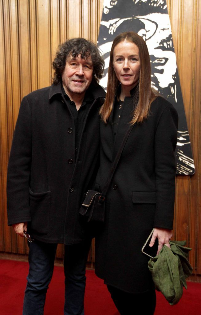 Jean Butler and Stephen Rea pictured at the opening night of Arlington, written and directed by Enda Walsh and choreographed by Emma Martin, at the Abbey Theatre. Photo: Mark Stedman