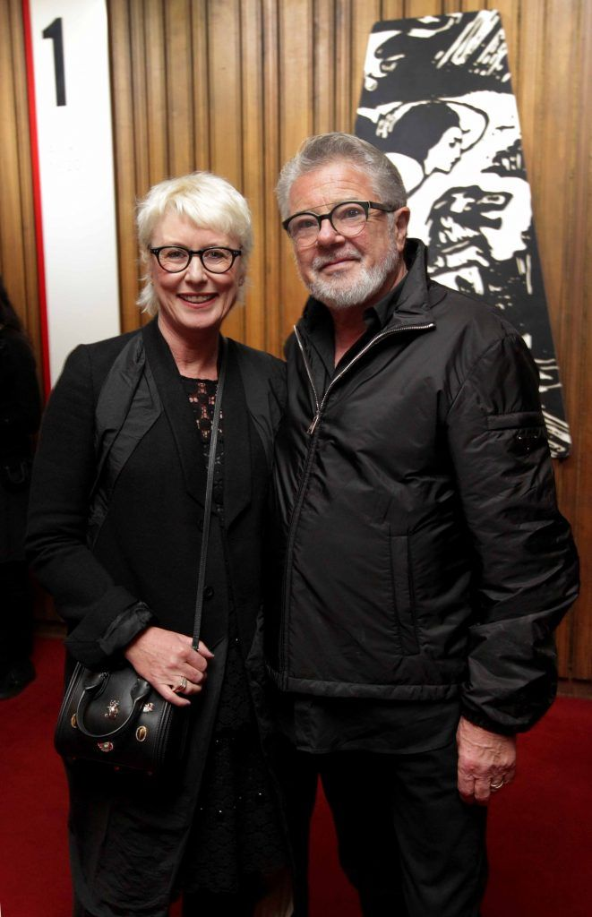 Moya Doherty and John McColgan pictured at the opening night of Arlington, written and directed by Enda Walsh and choreographed by Emma Martin, at the Abbey Theatre. Photo: Mark Stedman