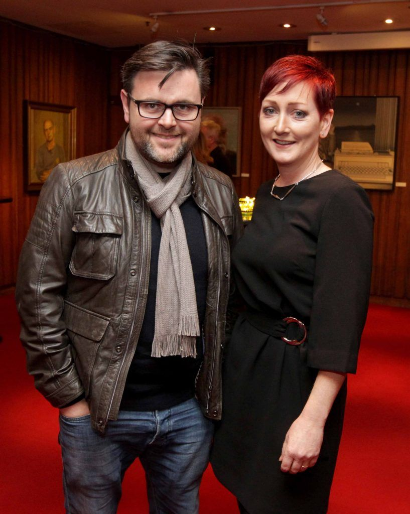 Gerard McNaughton and Audrey Phelan pictured at the opening night of Arlington, written and directed by Enda Walsh and choreographed by Emma Martin, at the Abbey Theatre. Photo: Mark Stedman