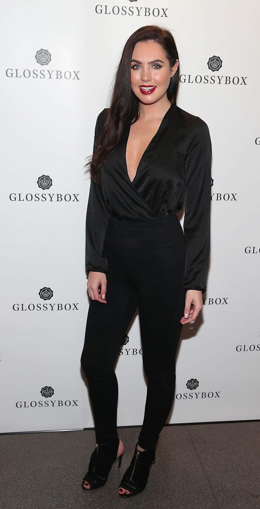 Sinead Noonan pictured at the Glossybox Girls Night Out screening at Movie's at Dundrum to celebrate their February LOVE Box. Picture: Brian McEvoy