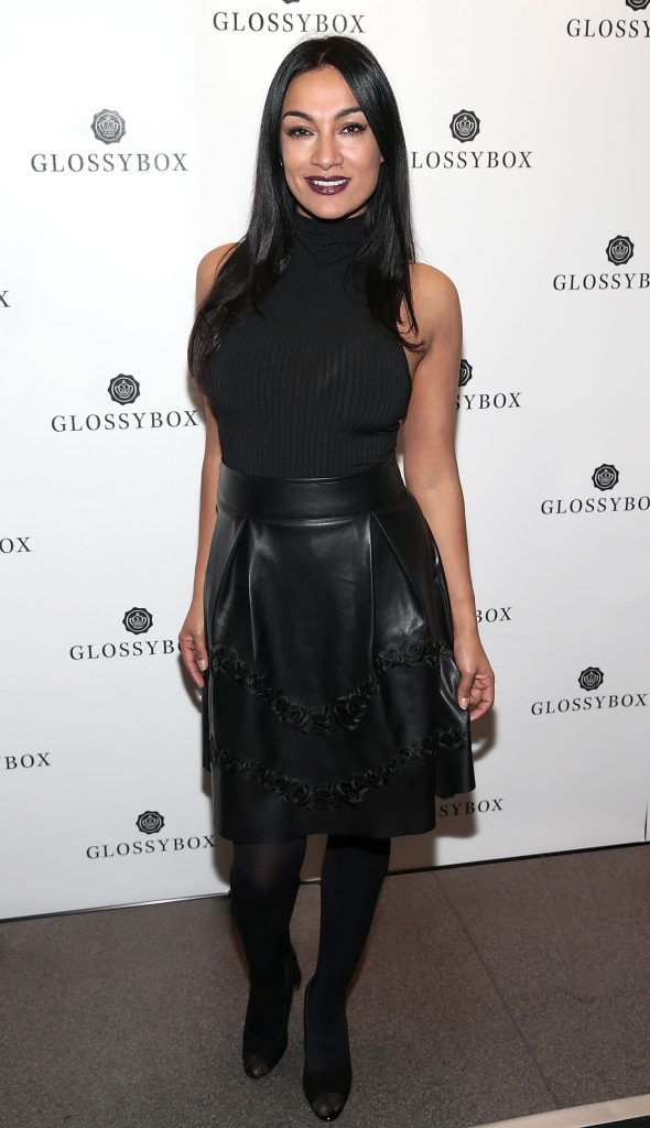 Gail Kaneswaran pictured at the Glossybox Girls Night Out screening at Movie's at Dundrum to celebrate their February LOVE Box. Picture: Brian McEvoy