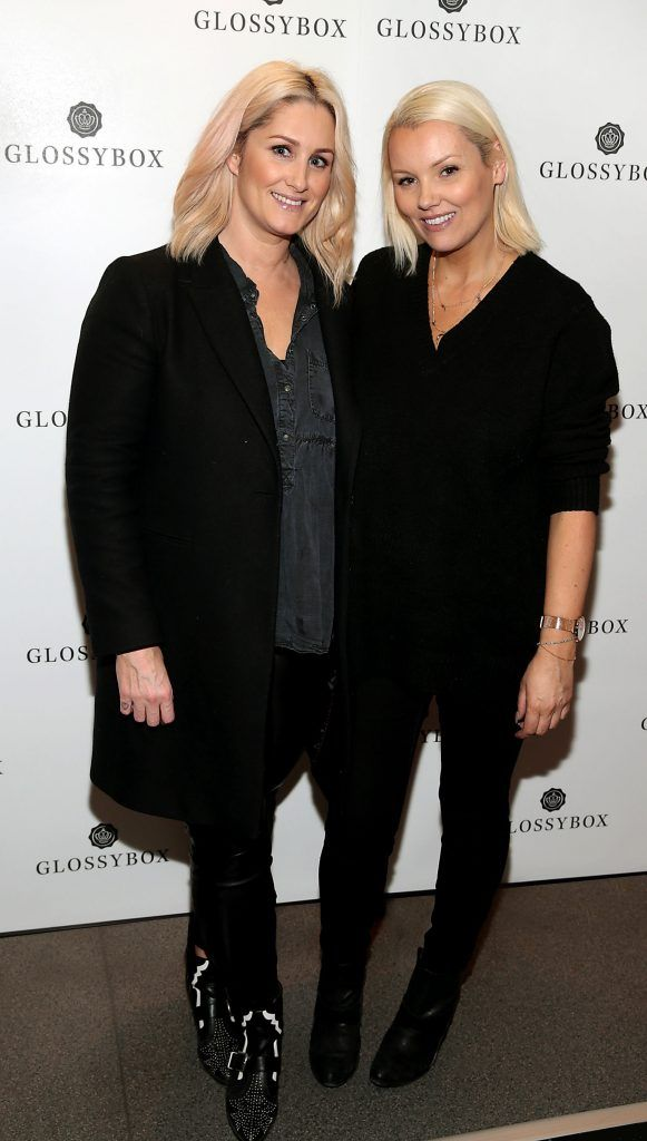 Michelle Field and Paula Callanpictured at the Glossybox Girls Night Out screening at Movie's at Dundrum to celebrate their February LOVE Box. Picture: Brian McEvoy