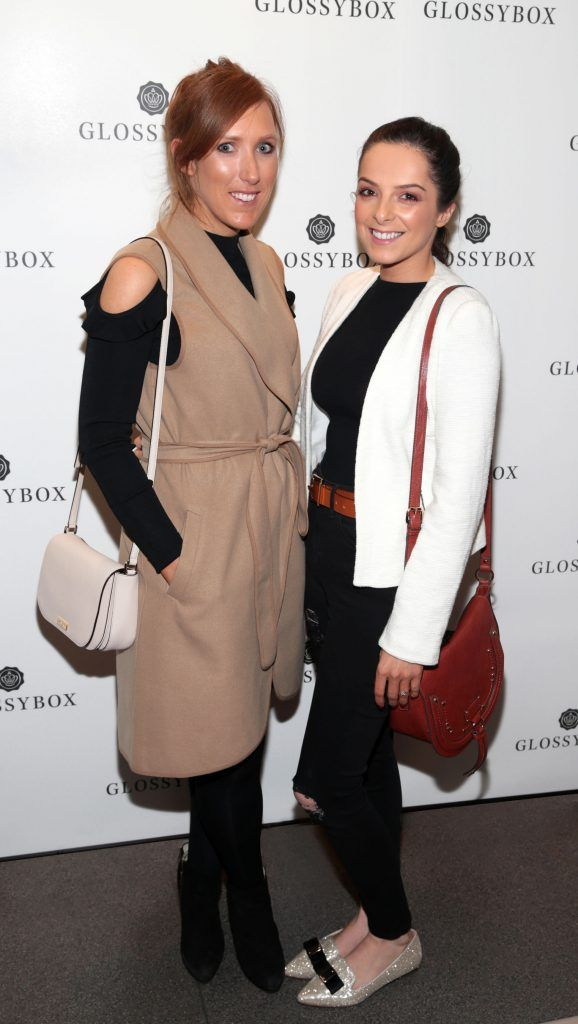 Louise Gallagher and Aoife Cleary pictured at the Glossybox Girls Night Out screening at Movie's at Dundrum to celebrate their February LOVE Box. Picture: Brian McEvoy