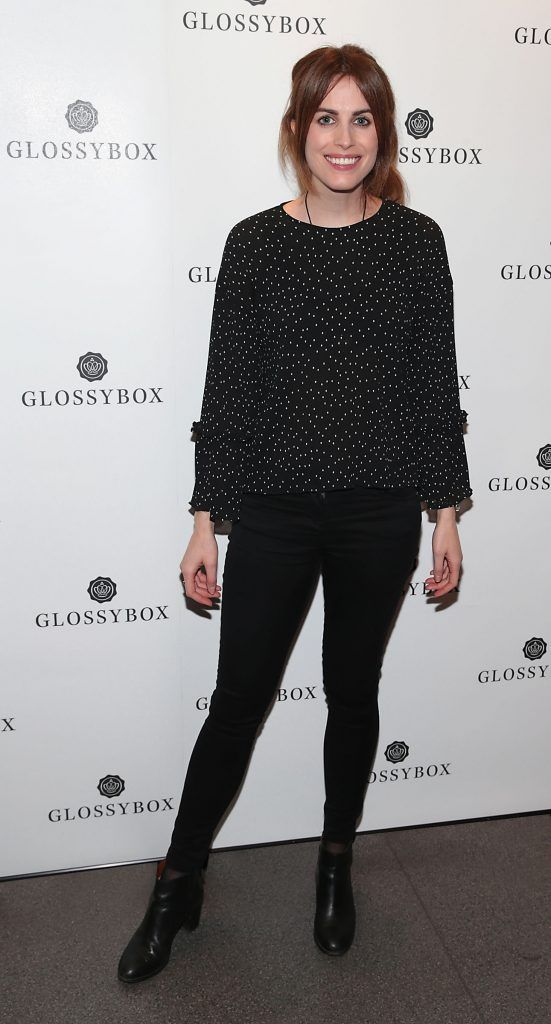 Holly White pictured at the Glossybox Girls Night Out screening at Movie's at Dundrum to celebrate their February LOVE Box. Picture: Brian McEvoy