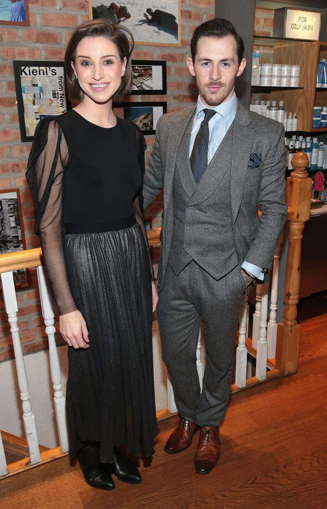 Dearbhla Keenan and Damien Broderick at the launch of Kiehl's Pure Vitality Skin Renewing Cream at the flagship Kiehl's Store, in Wicklow Street ,Dublin. Picture Brian McEvoy