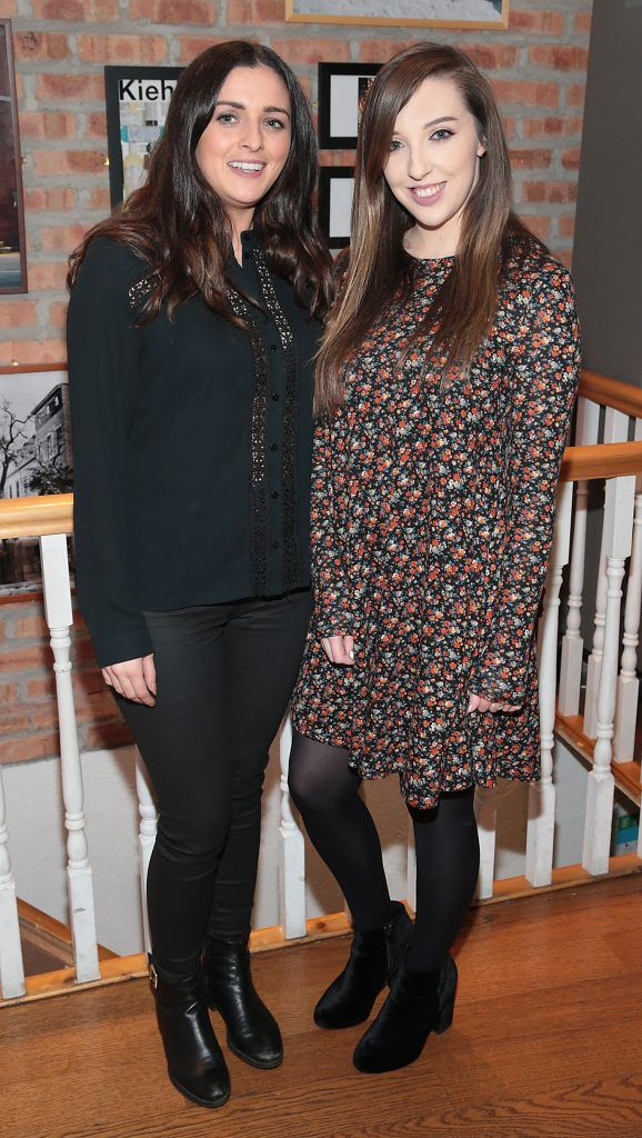 Niamh Byrne and Erin Healy at the launch of Kiehl's Pure Vitality Skin Renewing Cream at the flagship Kiehl's Store, in Wicklow Street ,Dublin. Picture Brian McEvoy