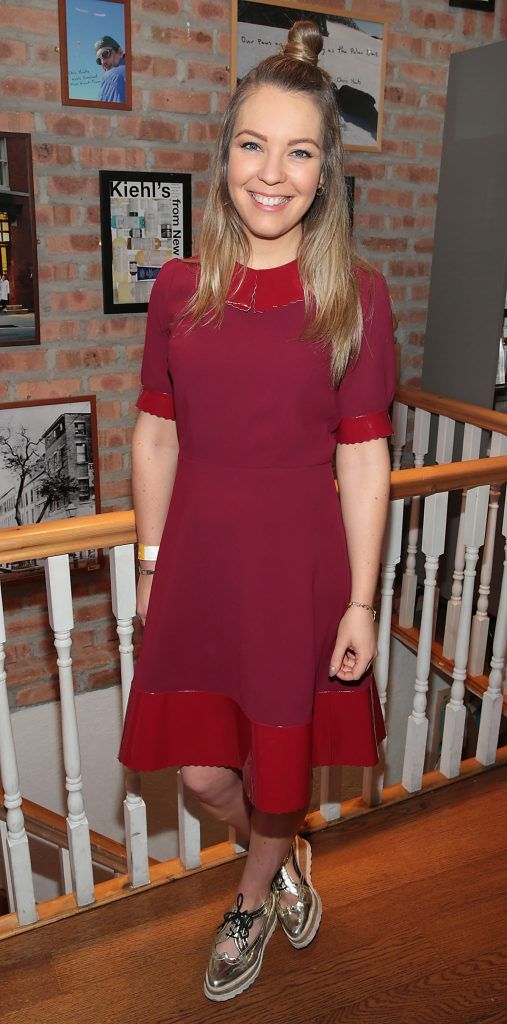 Emma Manley at the launch of Kiehl's Pure Vitality Skin Renewing Cream at the flagship Kiehl's Store, in Wicklow Street ,Dublin. Picture Brian McEvoy