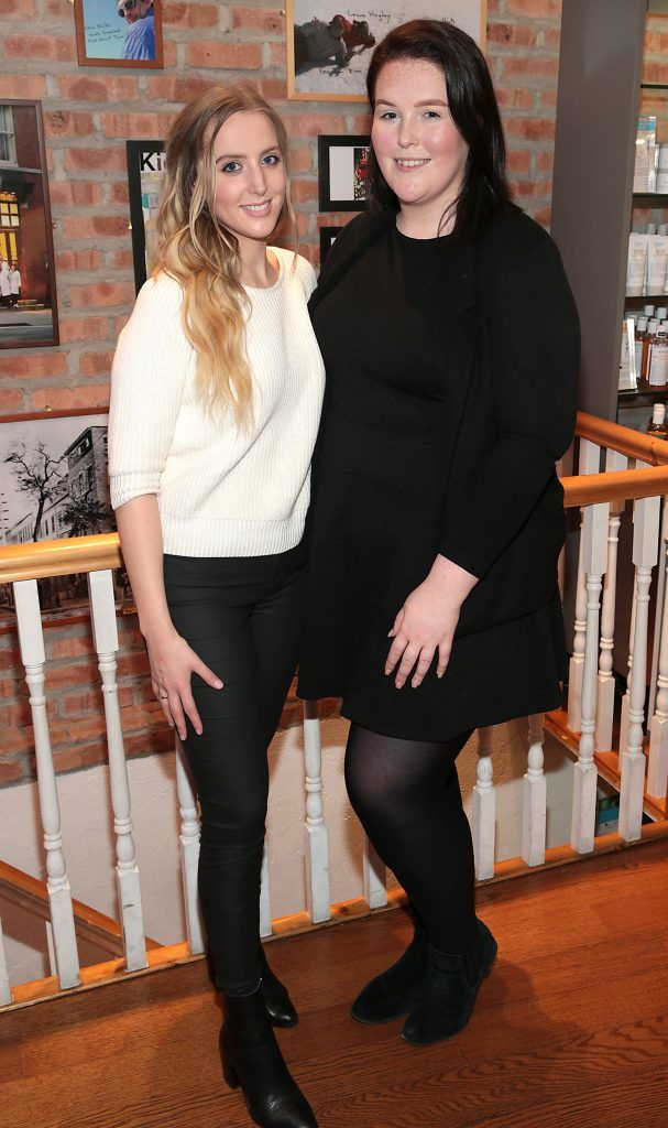 Susan Burke and Jen Morris at the launch of Kiehl's Pure Vitality Skin Renewing Cream at the flagship Kiehl's Store, in Wicklow Street ,Dublin. Picture Brian McEvoy