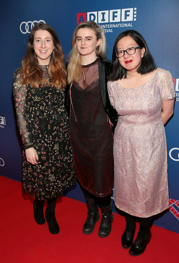 Laura Keown, Sorcha fitzgerald and Tra My at the Audi Dublin International Film Festival 2017 Opening Night Gala and Irish premiere screening of internationally acclaimed new film Maudie. More details about ADIFF are available at diff.ie. Pictures: Brian McEvoy