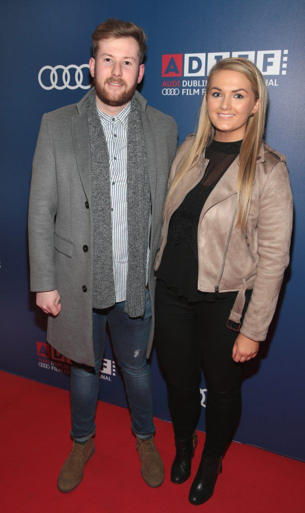 Jordan Kenna and Leslie Walsh at the Audi Dublin International Film Festival 2017 Opening Night Gala and Irish premiere screening of internationally acclaimed new film Maudie. More details about ADIFF are available at diff.ie. Pictures: Brian McEvoy