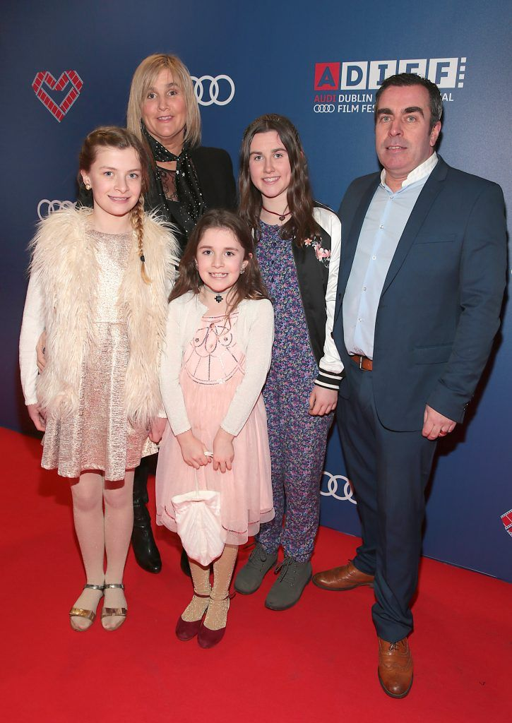 Molly Walsh, Deirdre Spratt, Lulu Walsh, Ella Walsh and Will Walsh at the Audi Dublin International Film Festival 2017 Opening Night Gala and Irish premiere screening of internationally acclaimed new film Maudie. More details about ADIFF are available at diff.ie. Pictures: Brian McEvoy
