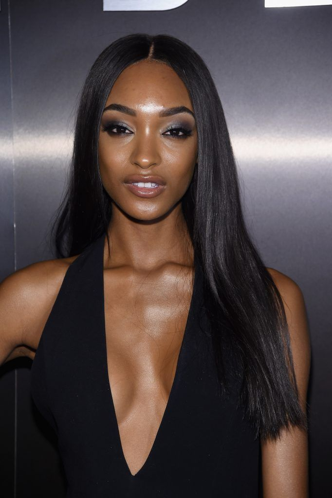 Model Jourdan Dunn attends Maybelline NYFW Welcome Party at PHD Terrace at Dream Midtown on February 12, 2017 in New York City.  (Photo by Jamie McCarthy/Getty Images for Maybelline)