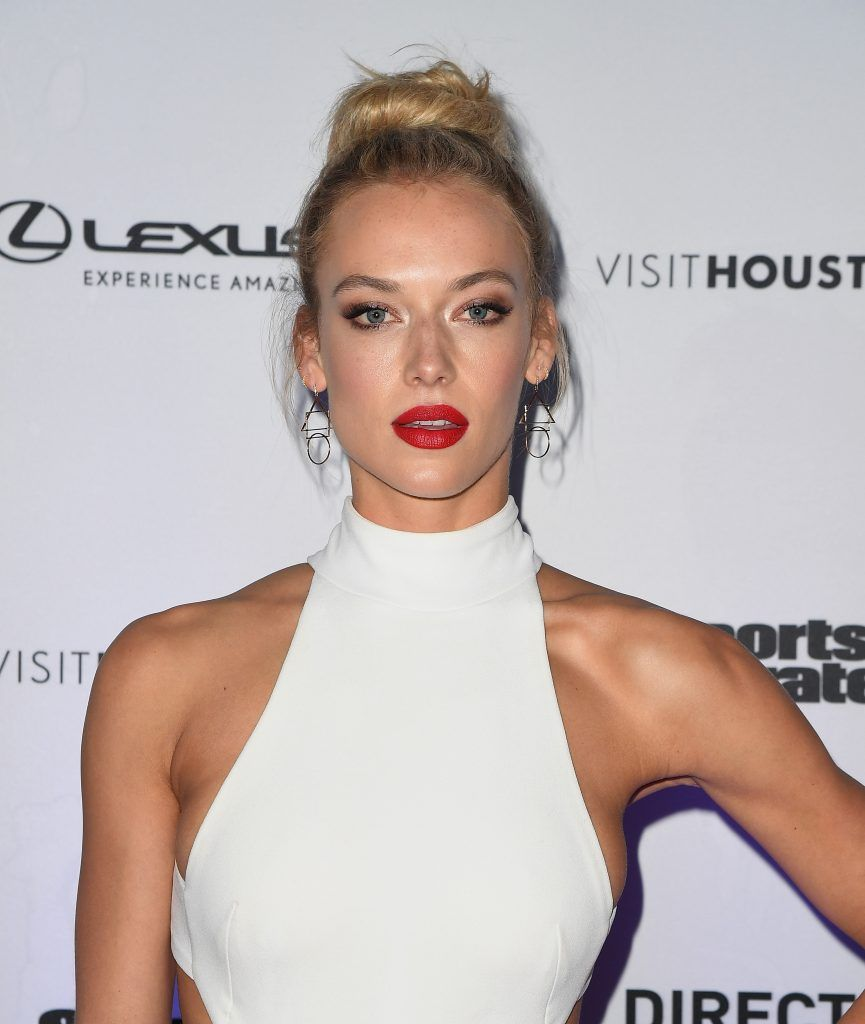Hannah Ferguson attends the Sports Illustrated Swimsuit 2017 launch event at Center415 Event Space on February 16, 2017 in New York City. (Photo ANGELA WEISS/AFP/Getty Images)