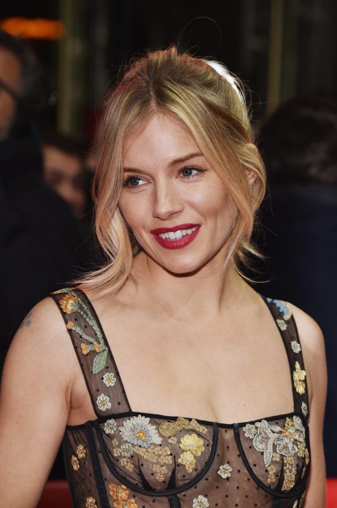 Actress Sienna Miller wearing Dior attends the 'The Lost City of Z' premiere during the 67th Berlinale International Film Festival Berlin at Zoo Palast on February 14, 2017 in Berlin, Germany.  (Photo by Pascal Le Segretain/Getty Images)