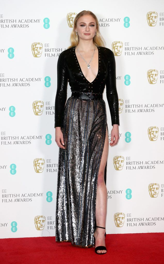 Sophie Turner attends the 70th EE British Academy Film Awards (BAFTA) at Royal Albert Hall on February 12, 2017 in London, England.  (Photo by Chris Jackson/Getty Images)