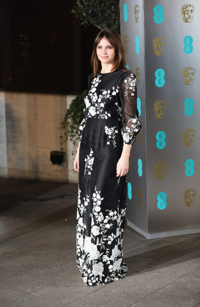 Felicity Jones attends the official after party for the 70th EE British Academy Film Awards (BAFTA) at The Grosvenor House Hotel on February 12, 2017 in London, England.  (Photo by Tim P. Whitby/Getty Images)