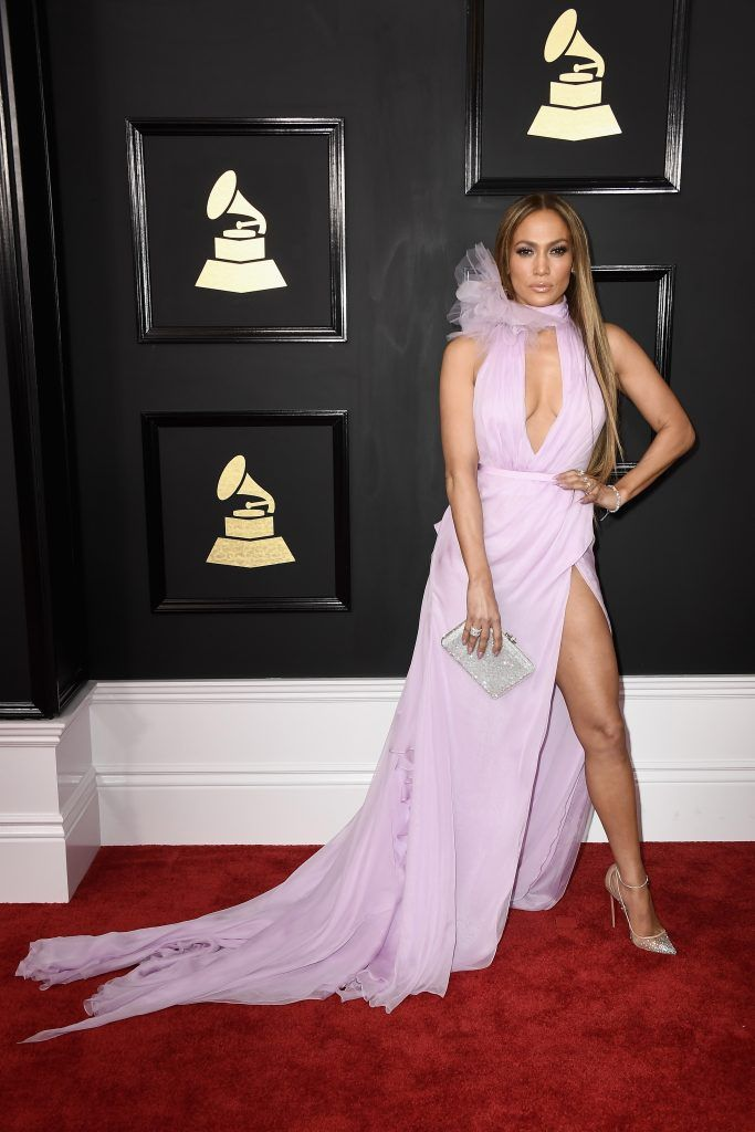 Jennifer Lopez attends The 59th GRAMMY Awards at STAPLES Center on February 12, 2017 in Los Angeles, California.  (Photo by Frazer Harrison/Getty Images)