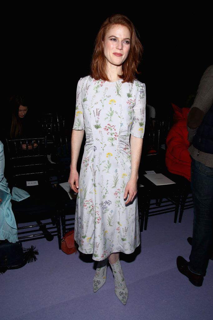 Actress Rose Leslie attends the Altuzarra fashion show during New York Fashion Week on February 12, 2017 in New York City.  (Photo by Astrid Stawiarz/Getty Images)
