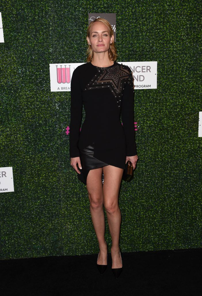 Amber Valletta attends the Women's Cancer Research Fund's event 'An Unforgettable Evening' at the Beverly Wilshire hotel in Beverly Hills, California on February 16, 2017.       (Photo CHRIS DELMAS/AFP/Getty Images)