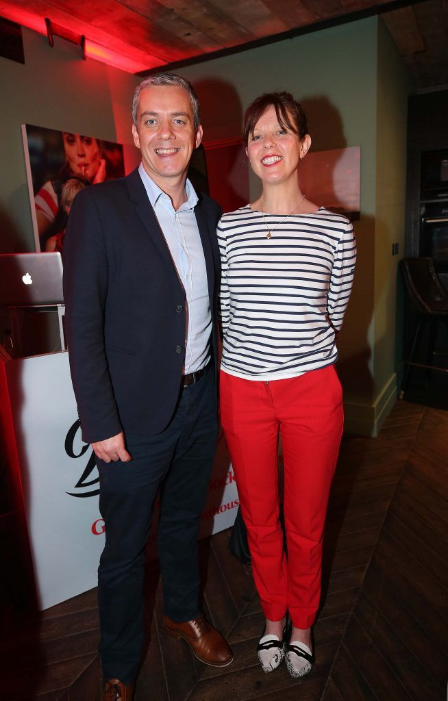 Ronan Farren and Sile Murphy, pictured at the Diet Coke 'Get the Gang Back Together' event, which took place Thursday 16th February at The Dean Hotel, Harcourt Street. Pic Robbie Reynolds