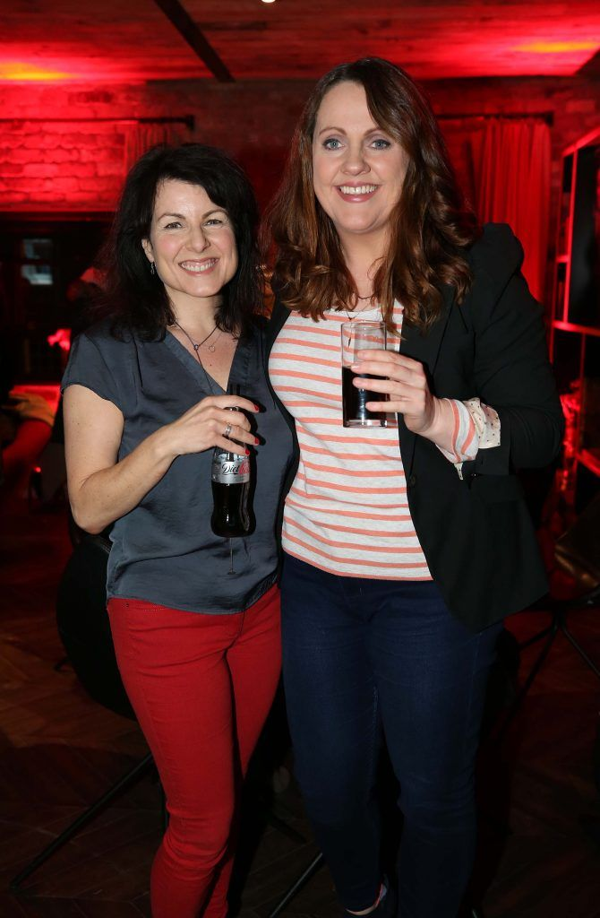 Tara Flynn and Ruth Scott, pictured at the Diet Coke 'Get the Gang Back Together' event, which took place Thursday 16th February at The Dean Hotel, Harcourt Street. Pic Robbie Reynolds