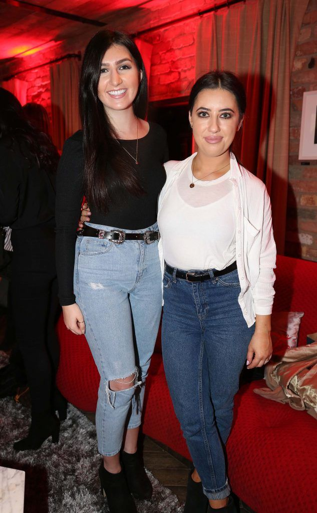 Pippa Doyle and Lottie Ryan, pictured at the Diet Coke 'Get the Gang Back Together' event, which took place Thursday 16th February at The Dean Hotel, Harcourt Street. Pic Robbie Reynolds
