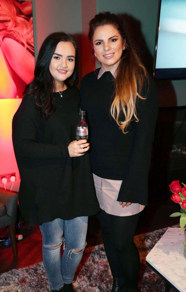 Rachel Verschoyle and Ciara Maher, pictured at the Diet Coke 'Get the Gang Back Together' event, which took place Thursday 16th February at The Dean Hotel, Harcourt Street. Pic Robbie Reynolds
