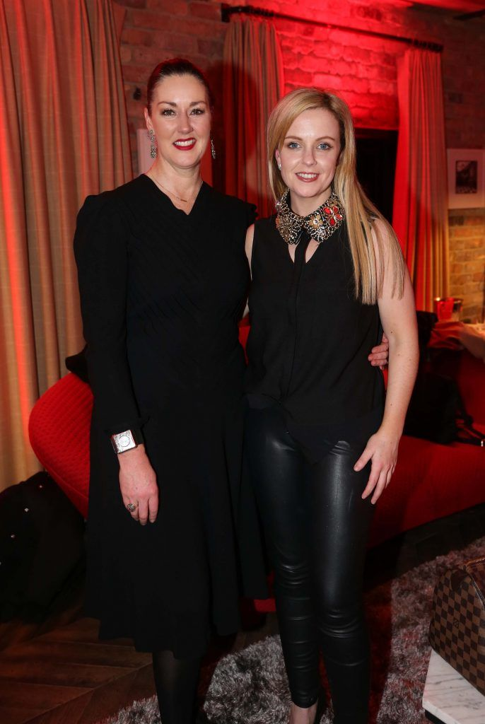 Naomi Fitzgibbbon and Louise Breslin, pictured at the Diet Coke 'Get the Gang Back Together' event, which took place Thursday 16th February at The Dean Hotel, Harcourt Street. Pic Robbie Reynolds
