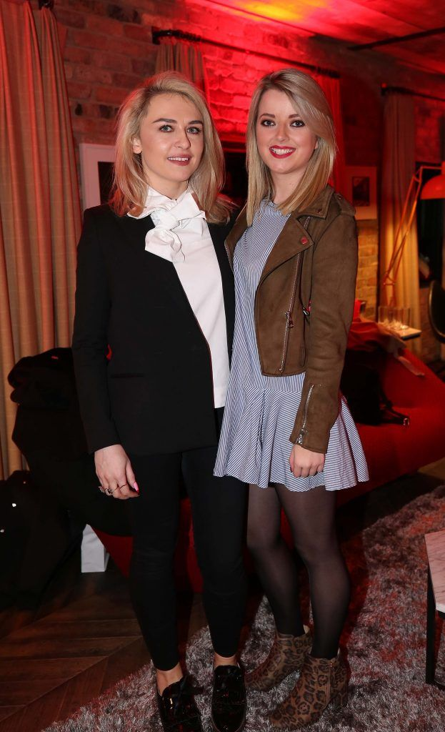 Emma Williams and Laura Connell, pictured at the Diet Coke 'Get the Gang Back Together' event, which took place Thursday 16th February at The Dean Hotel, Harcourt Street. Pic Robbie Reynolds