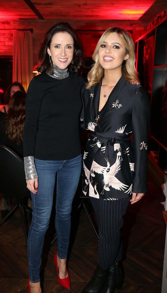 Maia Dunphy and Bonnie Ryan, pictured at the Diet Coke 'Get the Gang Back Together' event, which took place Thursday 16th February at The Dean Hotel, Harcourt Street. Pic Robbie Reynolds