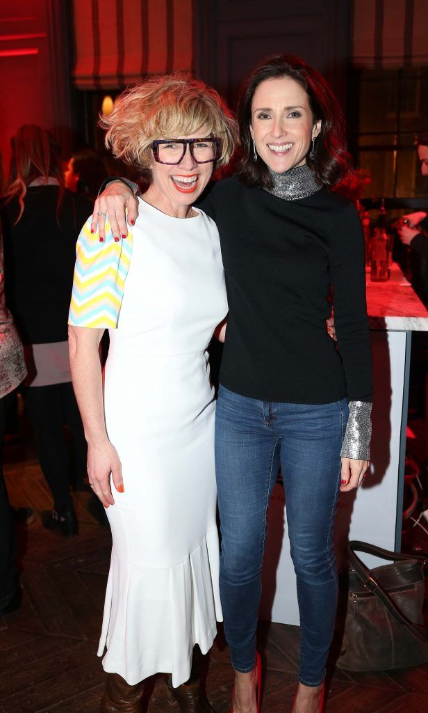 Sonya Lennon and Maia Dunphy, pictured at the Diet Coke 'Get the Gang Back Together' event, which took place Thursday 16th February at The Dean Hotel, Harcourt Street. Pic Robbie Reynolds