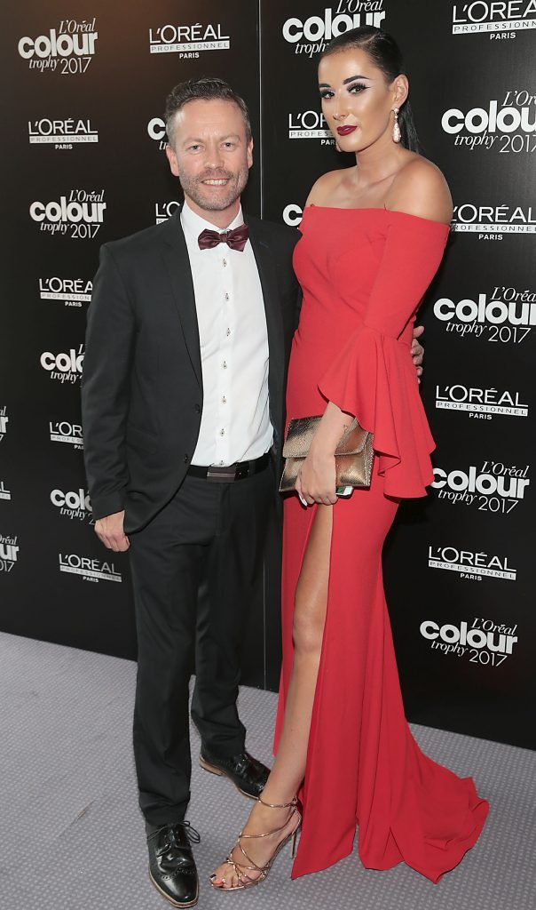 Sean Taffe and Sarah Cummins at the L'Oreal Colour Trophy Grand Final 2017, the longest running live hairdressing competition in the world, which took place in O'Reilly Hall UCD, Dublin #LCTIRE17. Picture by Brian McEvoy