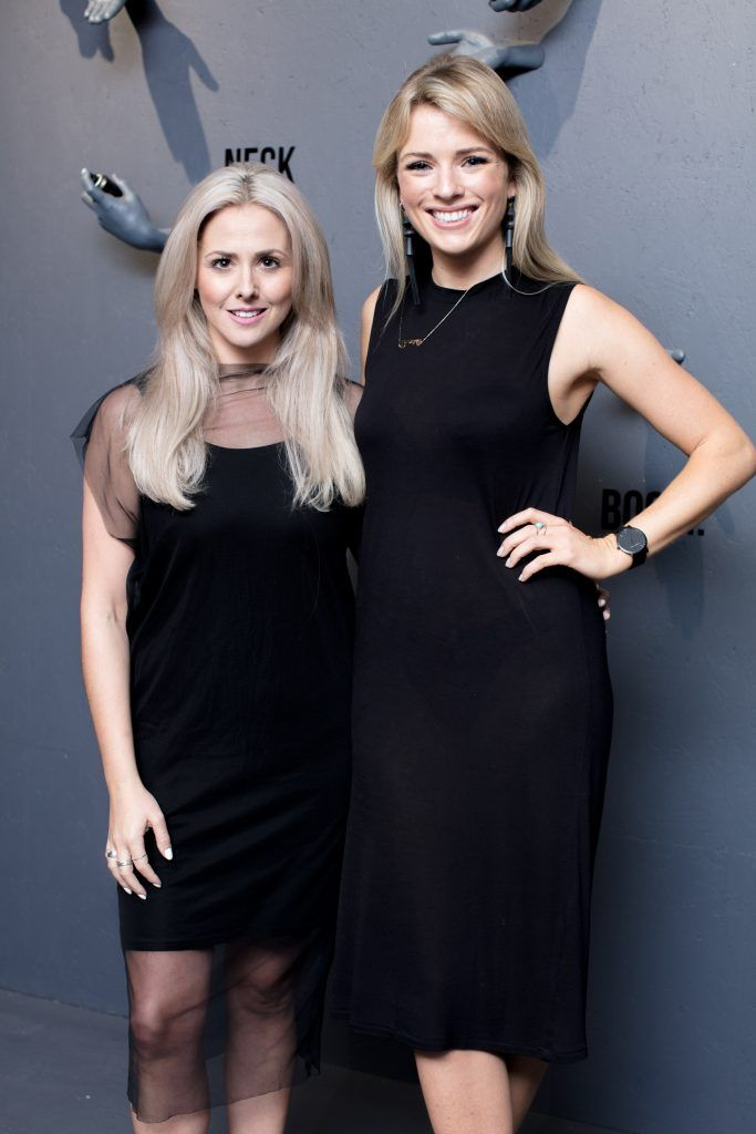 Aoife Madden & Danielle Byrne pictured at the first ever Lynx pop-up shop in Ireland. Guys can drop into 60 South William Street to avail of haircuts from Lynx grooming experts - redeemable with product. Photo: Anthony Woods