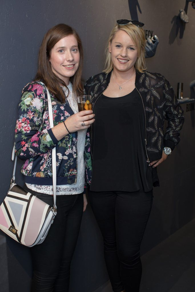 Aoife Reilly & Rachel Mc Darby pictured at the first ever Lynx pop-up shop in Ireland. Guys can drop into 60 South William Street to avail of haircuts from Lynx grooming experts - redeemable with product. Photo: Anthony Woods