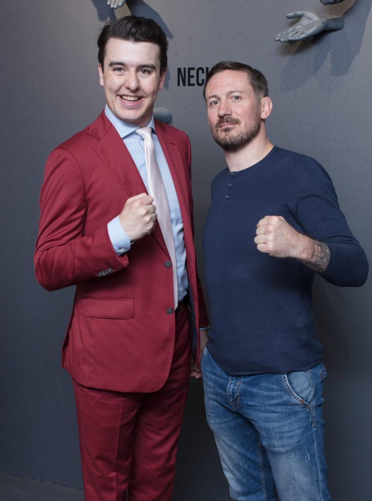 Al Porter & John Kavanagh pictured at the first ever Lynx pop-up shop in Ireland. Guys can drop into 60 South William Street to avail of haircuts from Lynx grooming experts - redeemable with product. Photo: Anthony Woods