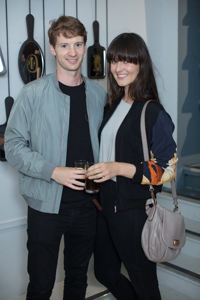 Kieron O'Neill & Kate O'Brien pictured at the first ever Lynx pop-up shop in Ireland. Guys can drop into 60 South William Street to avail of haircuts from Lynx grooming experts - redeemable with product. Photo: Anthony Woods