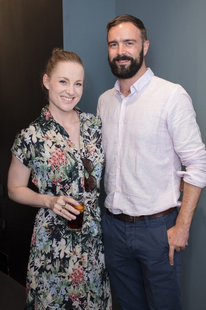 David Harris & Julie Blakeney pictured at the first ever Lynx pop-up shop in Ireland. Guys can drop into 60 South William Street to avail of haircuts from Lynx grooming experts - redeemable with product. Photo: Anthony Woods