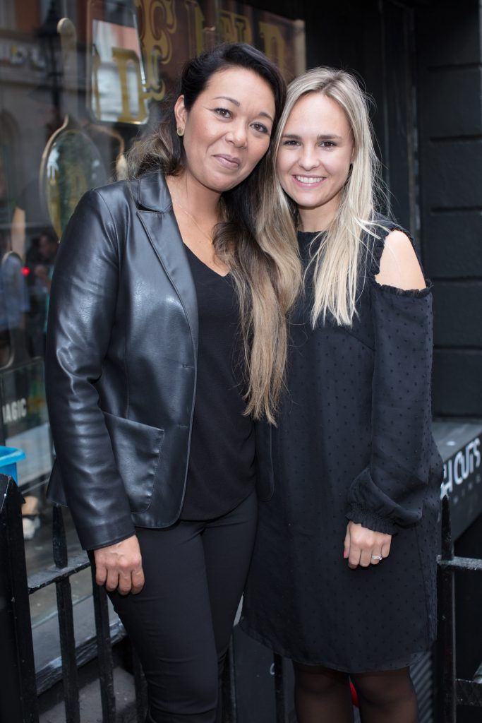 Meredith Hermelijn & Anouk Schiegg pictured at the first ever Lynx pop-up shop in Ireland. Guys can drop into 60 South William Street to avail of haircuts from Lynx grooming experts - redeemable with product. Photo: Anthony Woods