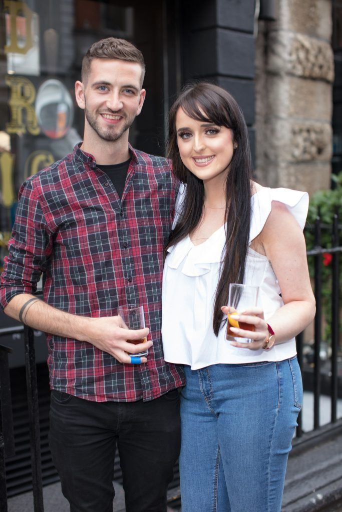 Sennan McShea & Lorraine Murphy pictured at the first ever Lynx pop-up shop in Ireland. Guys can drop into 60 South William Street to avail of haircuts from Lynx grooming experts - redeemable with product. Photo: Anthony Woods