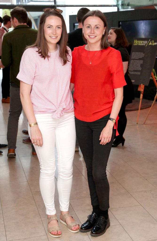 Gillian O'Connell and Aoibhin Egan at the RHA Hennessy Lost Friday (7th July), a night showcasing Ireland's most cutting edge and dynamic artists, musicians, and creatives. Pic: Marc O'Sullivan