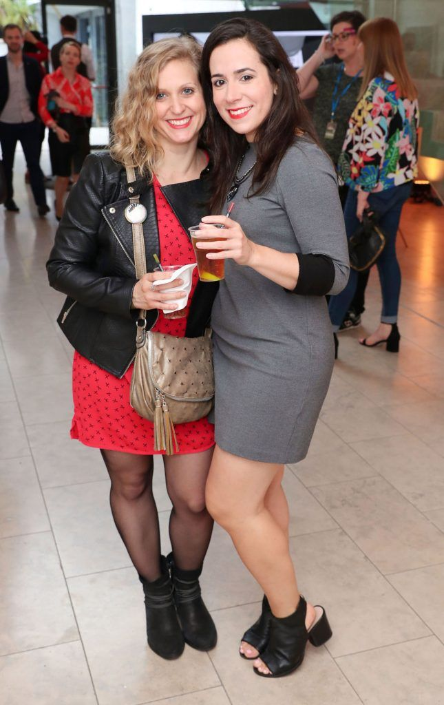 Liz Couaillac and Ariane Sails at the RHA Hennessy Lost Friday (7th July), a night showcasing Ireland's most cutting edge and dynamic artists, musicians, and creatives. Pic: Marc O'Sullivan